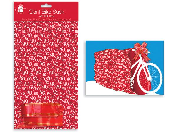 Giftmaker Giant Bike Sack With Pull Bow
