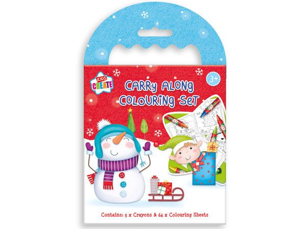 Kids Create Christmas Carry Along Colouring Set
