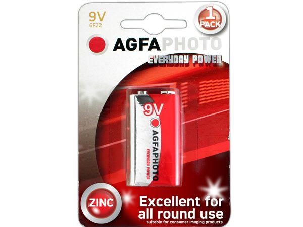 12x AGFA Everyday 9v / PP3 / 6F22 Batteries