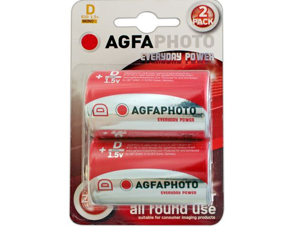 6x 2pk AGFA Everyday R20 / D Batteries