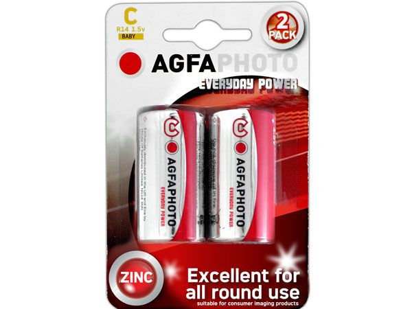 6x 2pk AGFA Everyday R14 / C Batteries