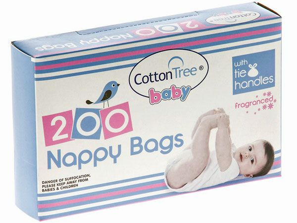 Cotton Tree 200pk Fragranced Nappy Bags, by 151 Products