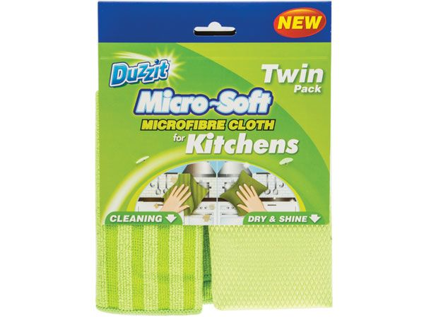 Duzzit Twin Pack Microsoft Microfibre Kitchen Cloth, by 151 Products