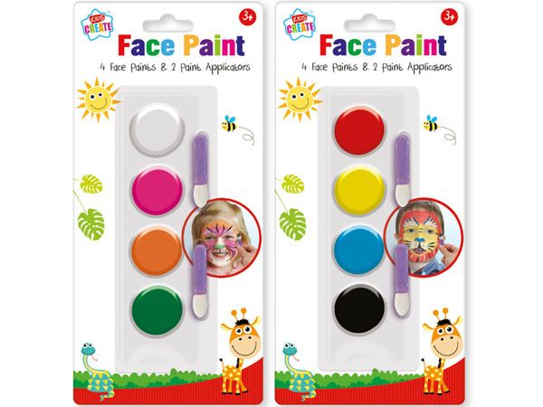 Kids Create Face Paints + Applicators, Assorted Picked At Random