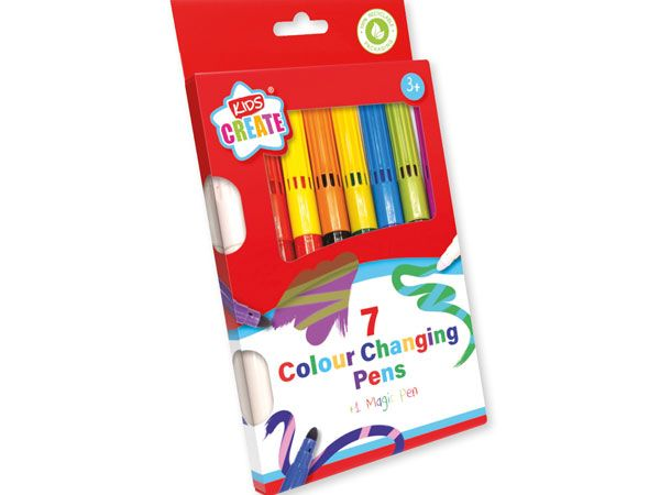Kids Create 7 Colouring Changing Pens + 1 Magic Pen