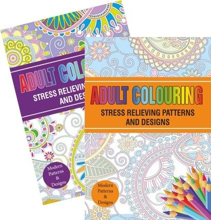 Adult Colouring Book - Stress Relieving Patterns, Assorted Picked At Random