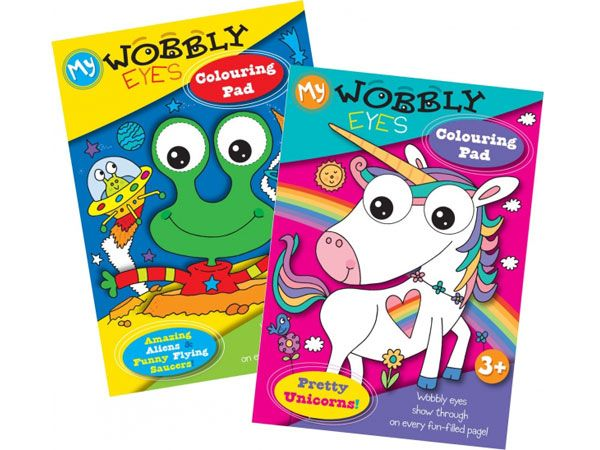 6x Wobbly Eyes Colouring Book