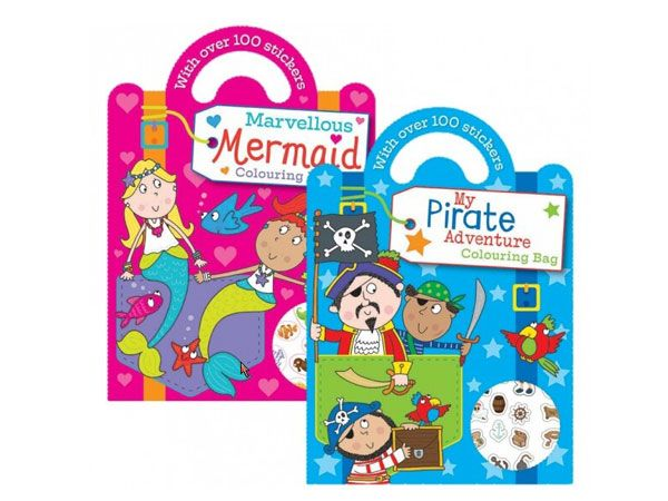 6x Colouring & Sticker Book with Handle (mto)