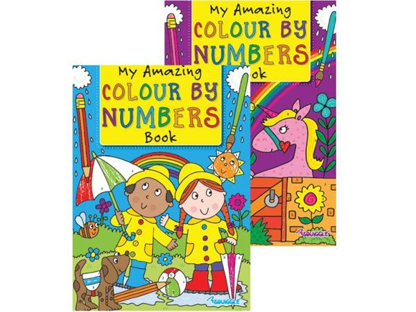 6x Squiggle Colour By Numbers Books
