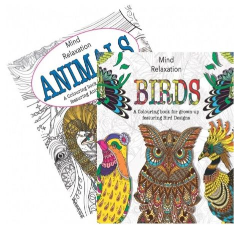 Animals And Birds Adult Colouring Book - Stress Relieving, Assorted Picked At Ra