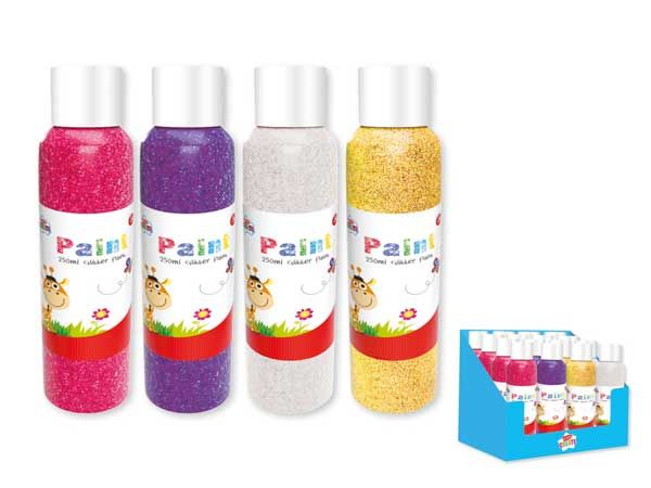12x Kids Create Activity Glitter Paint - Assorted Colours