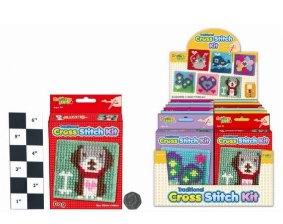 Kreative Kids Cross Stitching Kits - 6 Assorted Picked At Random