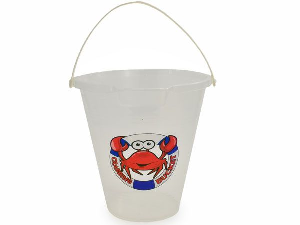 9 inch Clear Transparent Crab Bucket