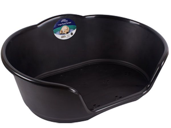 Sweet Dreams Large Plastic Pet Bed - Black