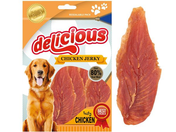World Of Pets - Delicious Chicken Jerky Dog Scrummy Snack